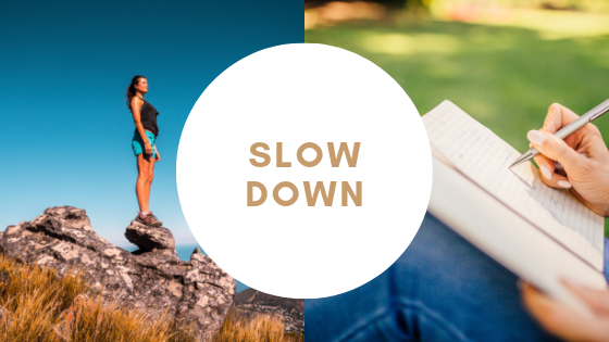 slow down and destress to support your nervous system