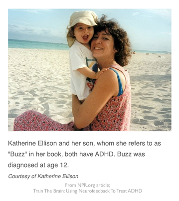 Writer Katherine Ellison-with-son-from the NPR article Train the Brain