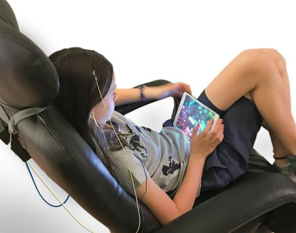 child neurofeedback session