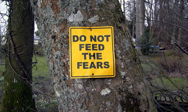 Do not feed the fears sign