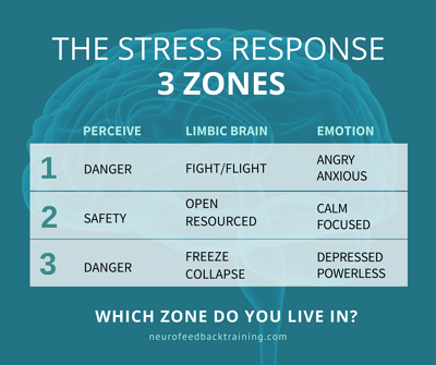 the stress response three zones