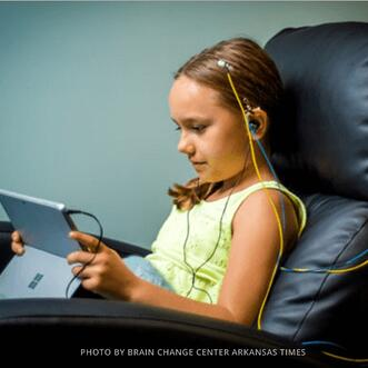 neurofeedback session for child