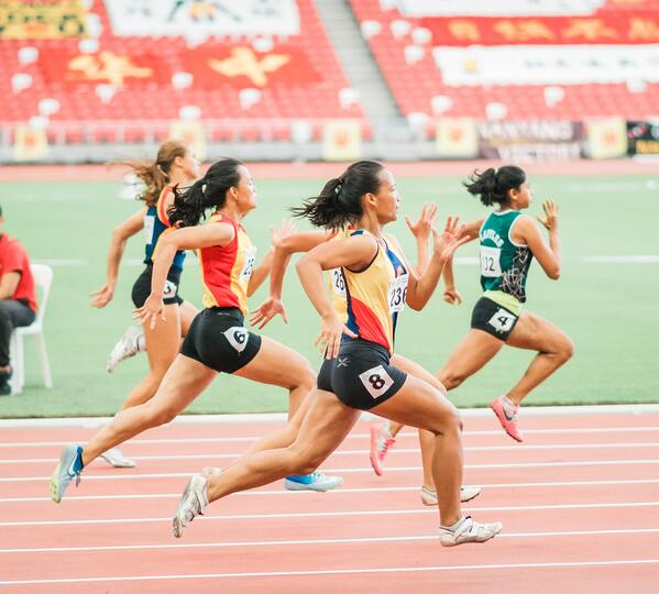 competing runners need to be in peak performance