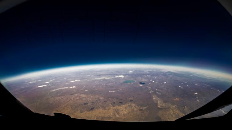 round earth from space