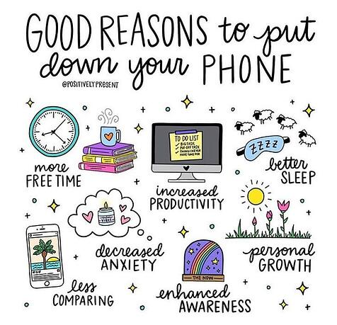 good reasons to put down your phone by positivelypresent